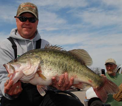Ricky Culverhouse and his big bass