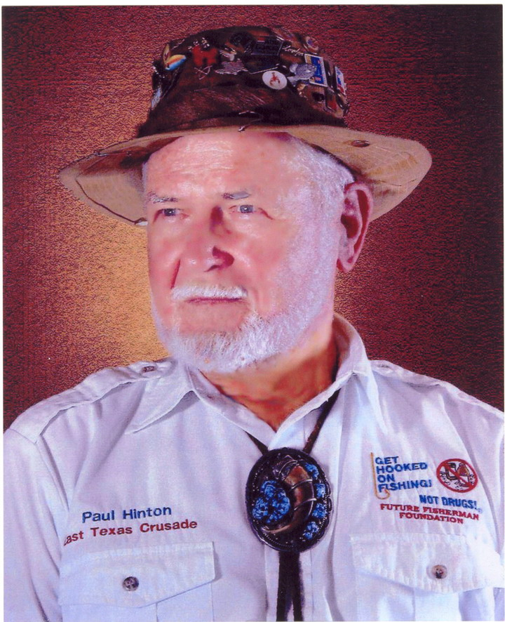 Paul Hinton was elected to the Texas Fishing Hall of Fame