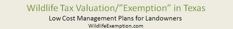 Wildlife Tax Exemption in Texas